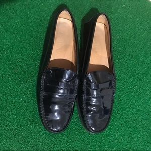 Tod's Black Patent Leather Loafer Sz 38